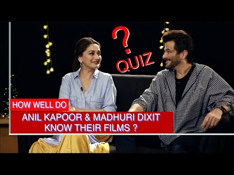 DON'T MISS: Anil Kapoor & Madhuri Dixit's EVERGREEN CHEMISTRY makes this QUIZ a Must Watch!
