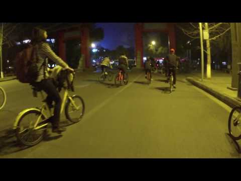 2017 02 17 Fiday Night Bicyle Ride in Chengdu, China