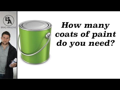 How many coats of paint do you need?
