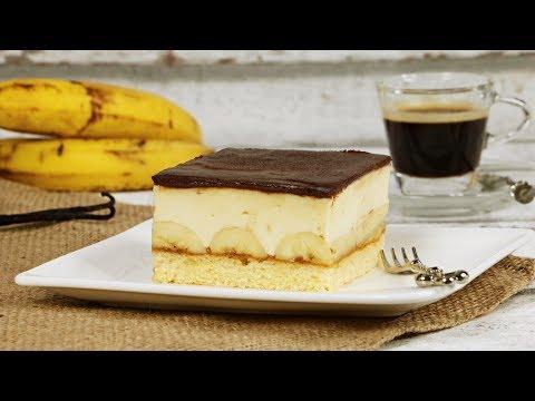 Kremasti kolač od banana - Šnite od banana - Kocke od banana - Kolač sa bananama