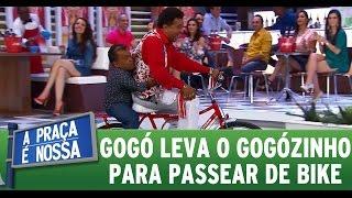 """A Praça É Nossa (12/11/15) - Paulinho Gogó leva o """"Gogózinho"""" para passear"""