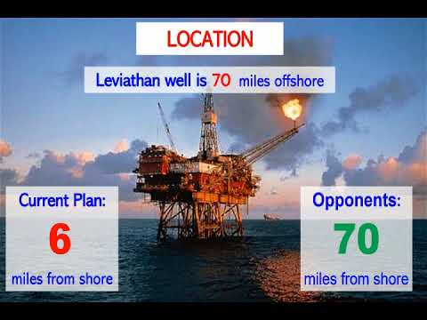 Push The Leviathan Gas Rig From Near Shore To 70miles (120km) Off Shore.