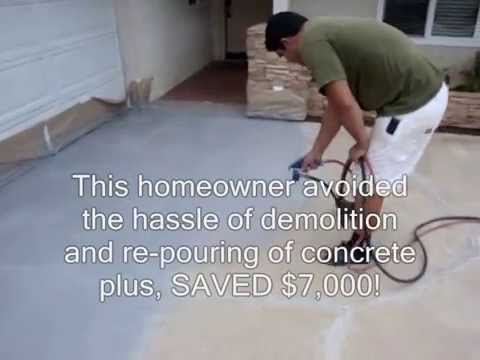 Concrete resurfacing with liquid roq youtube concrete resurfacing with liquid roq solutioingenieria Image collections