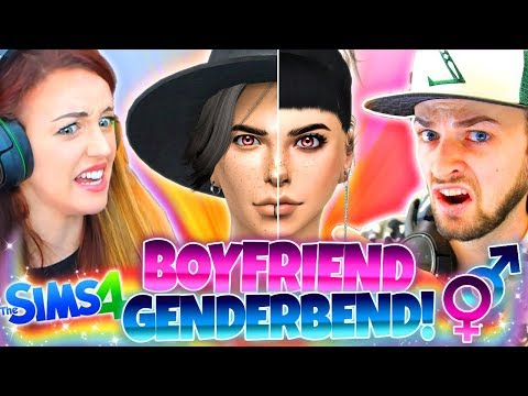 👩🏻GENDERBEND WITH MY BOYFRIEND!👦🏻 - The Sims 4 CAS Challenge!