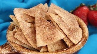 Baked Cinnamon Sugar Tortilla Chips