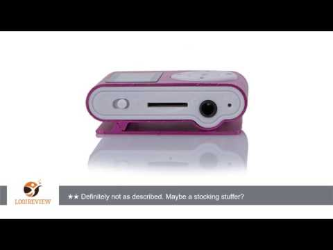 UNIWENT Mini USB Clip MP3 Player LCD Screen Support 32GB Micro SD TF Card Hot Pink | Review/Test