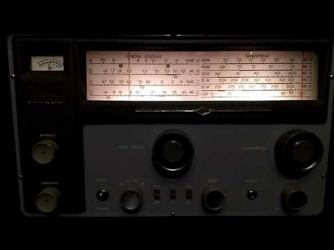 Vintage National NC-188 Tube Radio - Shortwave broadcast of Radio Marti @ 6030 kHz