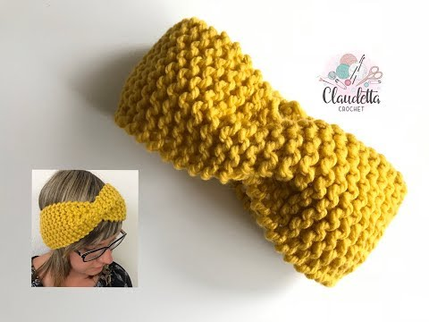 How to Knit HEADBAND WITH TWIST / Beginner