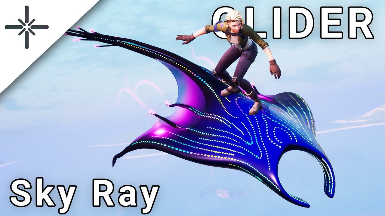 "LEAKED ""Sky Ray"" Glider Gameplay (Mariana Skin Stand on/Rideable Glider ingame)"
