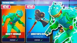 "NEW ""MOISTY MERMAN"" SKIN + ""DIRECTOR'S CUT"" AXE in Fortnite! (New Fortnite Battle Royale Update)"