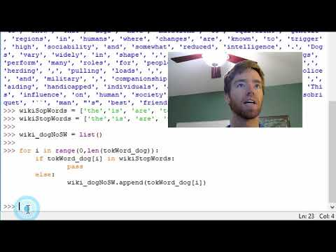 Ep 9 Python NLTK | Remove Stopwords From Text - YouTube