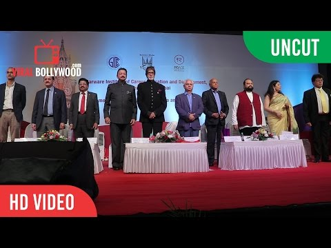 UNCUT - Launch Of Academic Programmes In Film And Entertainments | Amitabh Bachchan, Ramesh Sippy