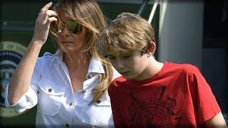 BARRON TRUMP SETS THE INTERNET ON FIRE WITH 1 CLICK OF A BUTTON AFTER GETTING OFF AIRCRAFT