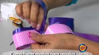 Repeat youtube video Como hacer moños para decorar regalos - Johana Sanchez Aguirre