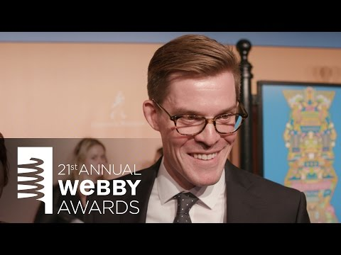 Joe Hanson on the Red Carpet at the 21st Annual Webby Awards