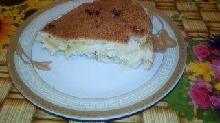 Яблочный пирог без яиц(шарлотка)