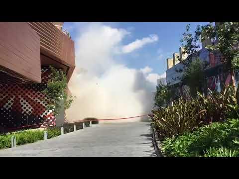 Se registra derrumbe en Plaza Artz de Pedregal