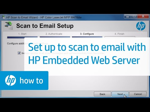 Set up Scan to E-mail using HP Embedded Web Server (EWS)