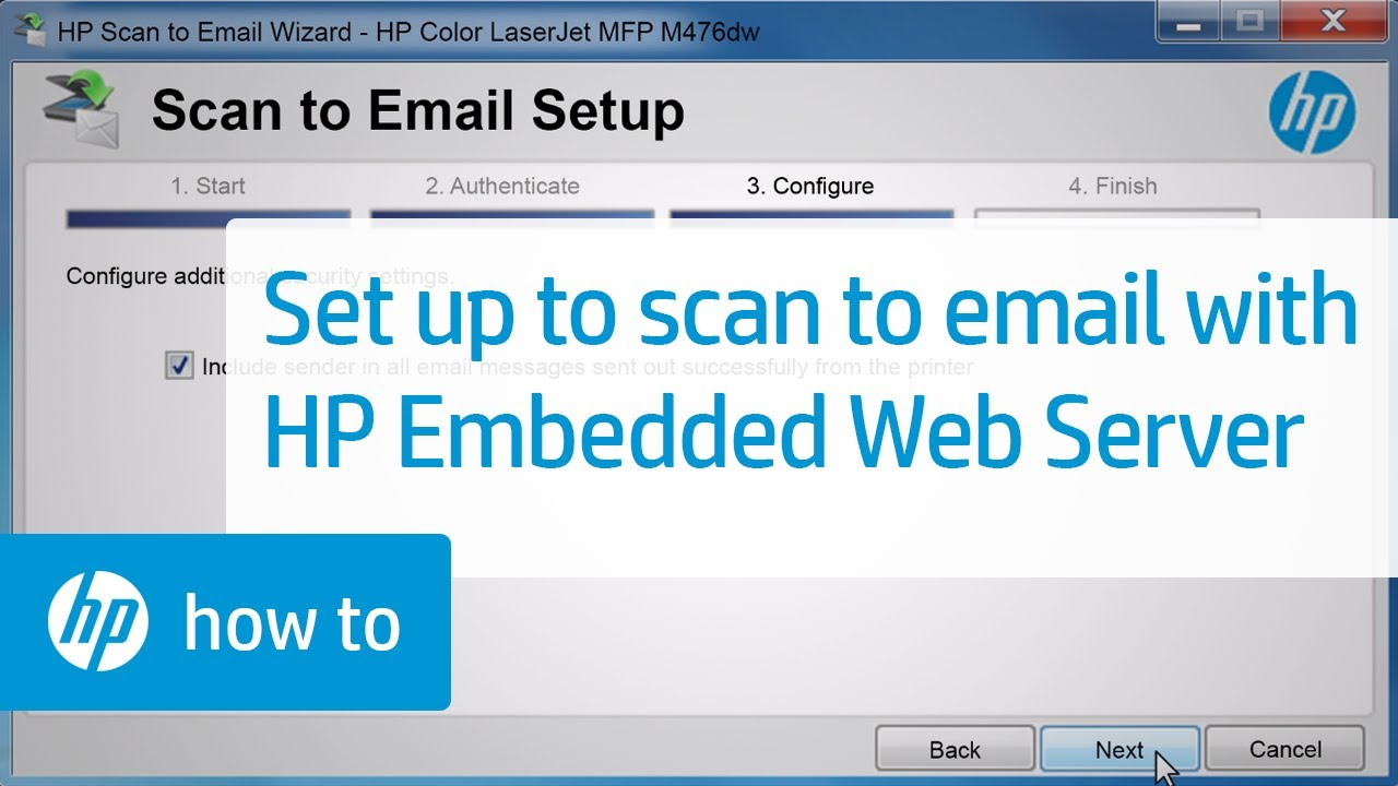 Set Up Scan To E Mail Using Hp Embedded Web Server Ews