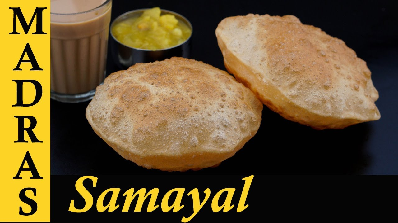 Poori Recipe in Tamil | How to make soft Wheat Poori in Tamil | Fluffy Poori in Tamil | கோதுமை பூரி