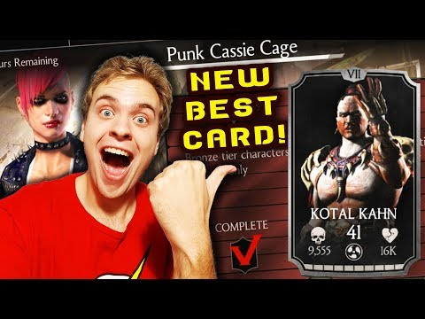 MKX Mobile. Punk Cassie Cage Challenge Review. DESTROYED BY SILVER KOTAL KAHN!