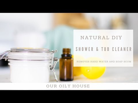 DIY Shower Scrub | Removes Hard Water Stains and Soap Scum | Non-Toxic Shower Cleaner