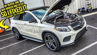 I Rented A $100k Mercedes-AMG That Was BROKEN And FILTHY...So I FIXED IT (WITHOUT The Owner Knowing)