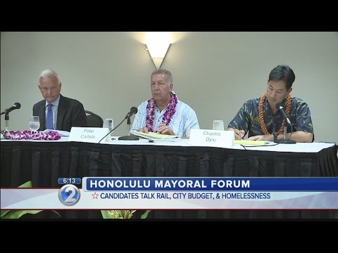 Honolulu mayoral candidates sound off on rail during forum