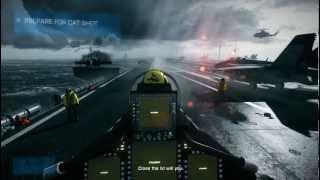 Gameplay PC - Battlefield 3 - Saindo do porta-aviões - Briga no céu - PT-BR #01