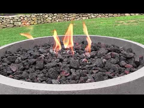 Choosing A Firebowl:  Eldorado Stone Gas-Fed Fire Bowl