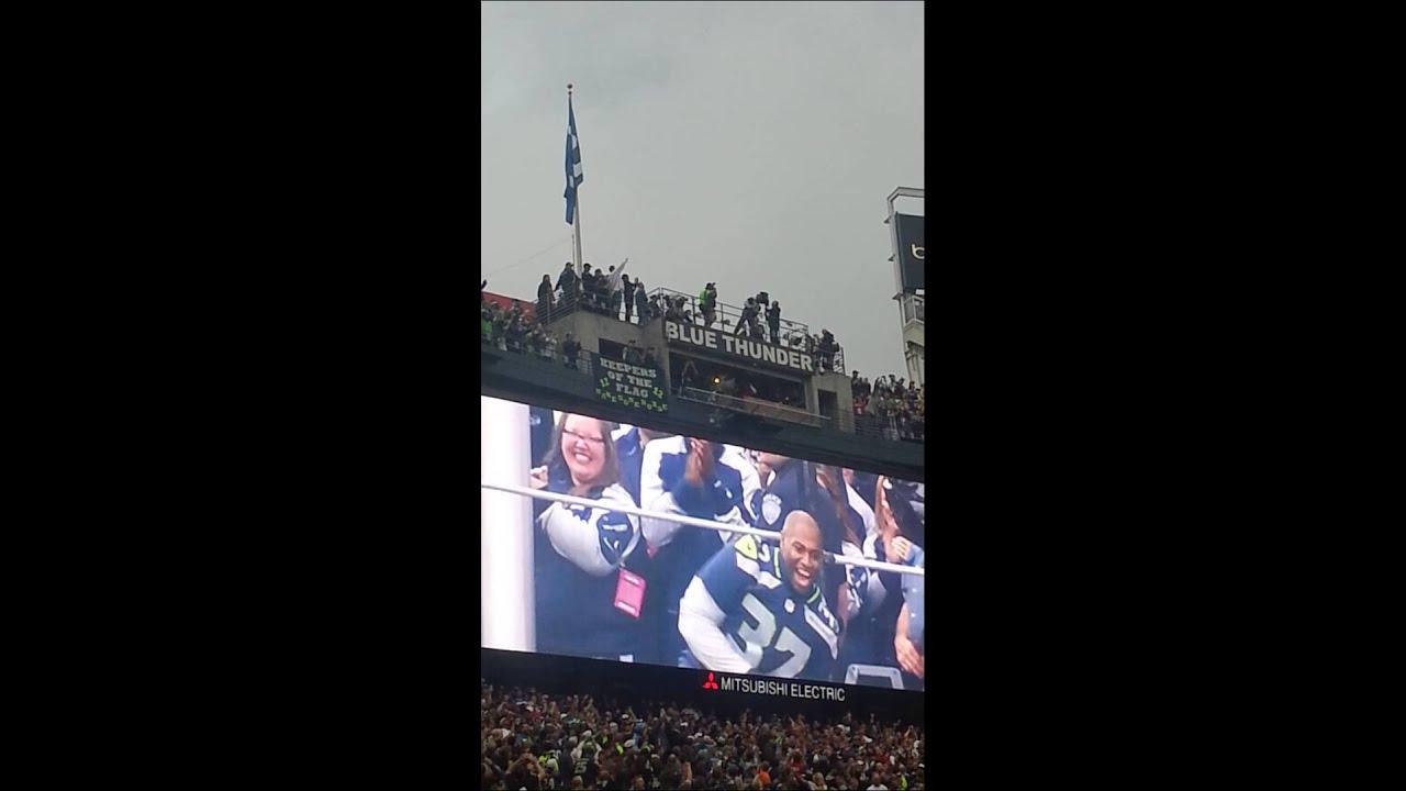 Raising 12th man flag Shaun Alexander - YouTube 652d619de