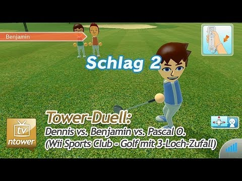 Tower-Duell: Wii Sports Club - Golf mit 3-Loch-Zufall (Dennis vs. Benjamin vs. Pascal O.)