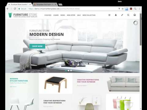 Furniture Store Shopping Cart Joomla Template