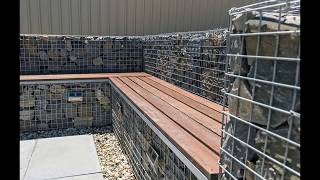 Gabion Outdoor Bench Seating by Prospect Contractors