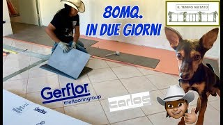 GERFLOR Creation 55 Clic Uni Taupe - Posa di Mq.80 presso la British School of Casale Monferrato-AL
