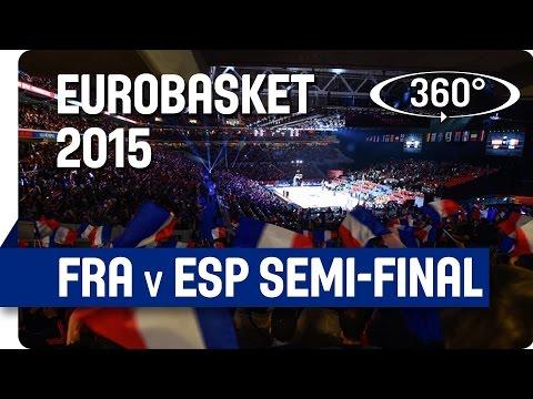 Huge Indoor Semi-Final Crowd of 26,922 in Amazing 360° : 4kEuroBasket 2015