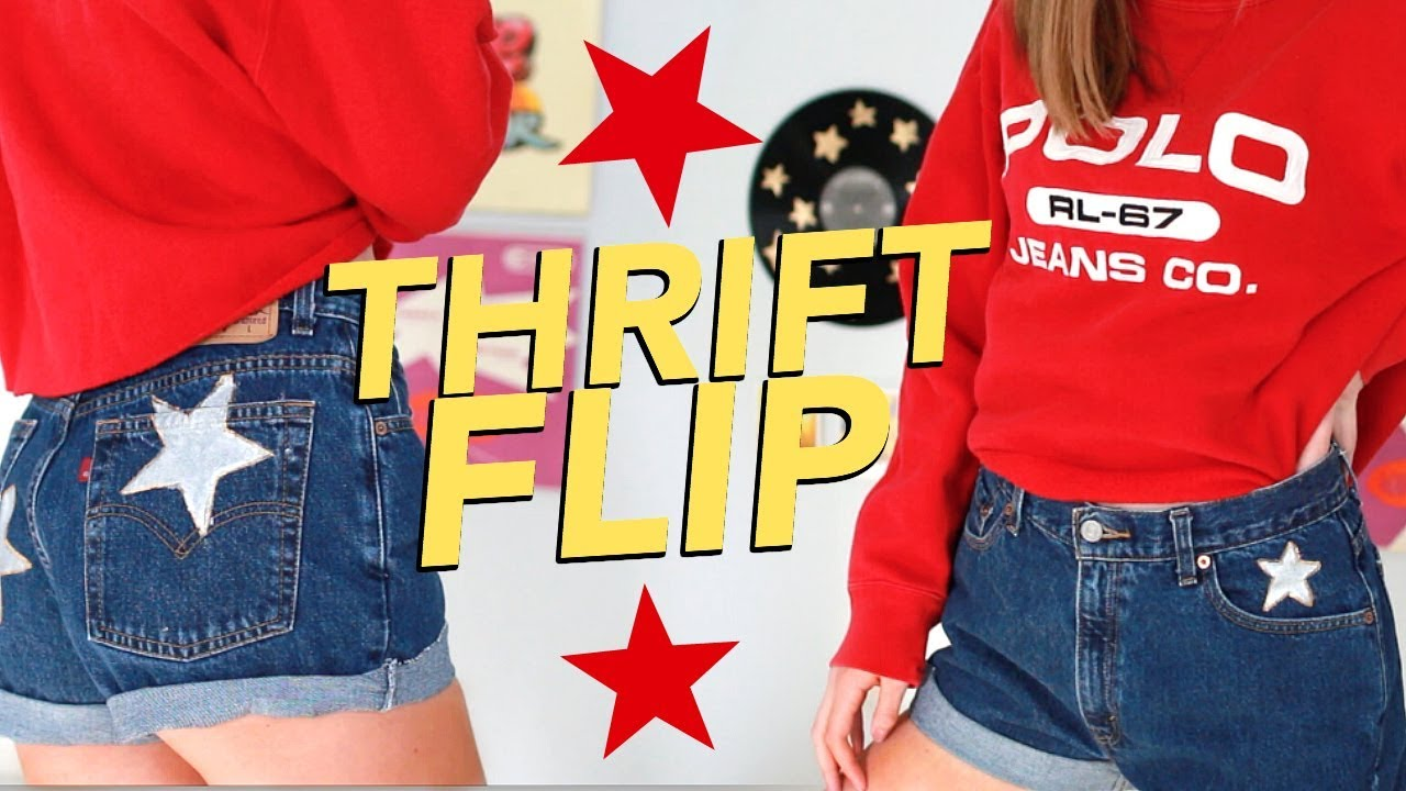 DIY THRIFT FLIP   transforming thrifted clothes! - YouTube
