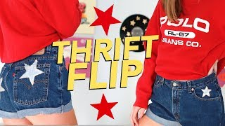 DIY THRIFT FLIP | transforming thrifted clothes!