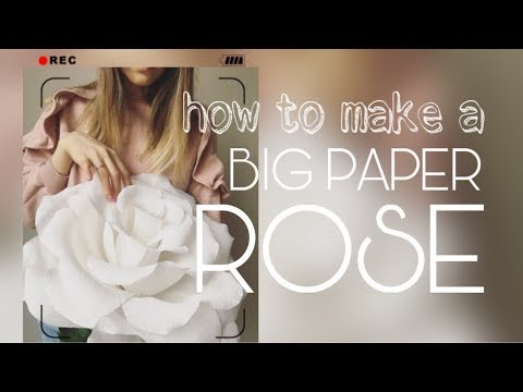 DIY: BIG PAPER ROSE (Large size paper rose)/Home decor, holiday and photo shoots.