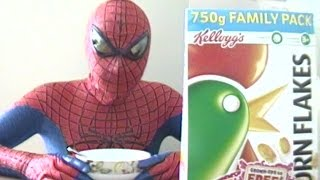 Spider-Man Eating Corn Flakes