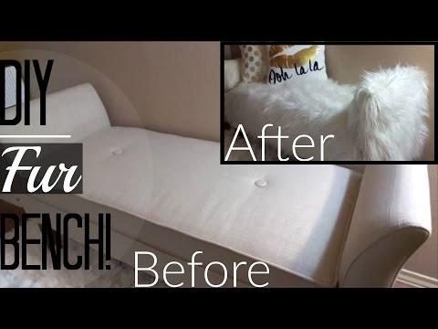 DIY Fur Bench! (TARGET TRANSFORMATION)