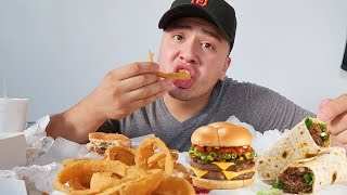 cheeseburger onion rings burrito mukbang   wendy s eating show quitting youtube
