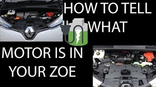How to tell what Motor your renault Zoe has and What Motor do you want? 🔌🔋