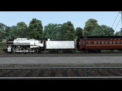 Train Simulator 2016 HD: USATC S160 Steam Locomotive Hauls 8 Car Troop Train Over Horseshoe Curve