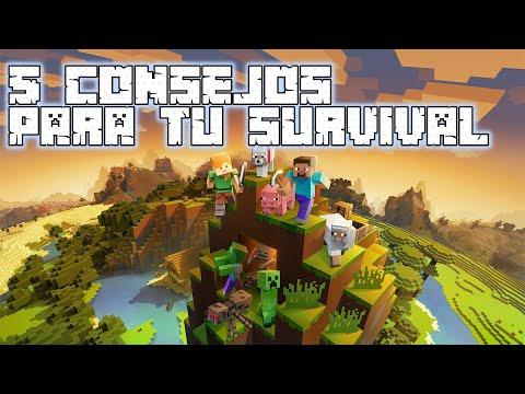 5 Consejos Para Minecraft Survival 2020 | GoldemSheep