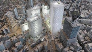 渋谷ストリーム!完成!未来の渋谷スクランブル交差点!ハチ公はどこ? Tokyo Japan