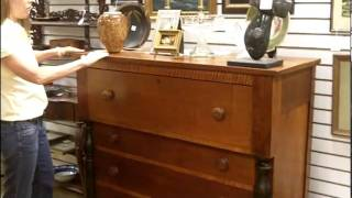 Antique Furniture, Antique Dresser Chest Of Drawers