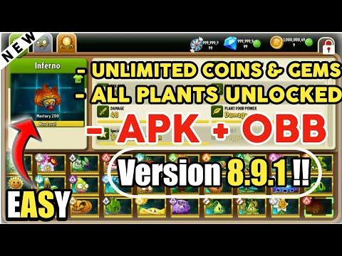 plants vs zombies 2 hack apk free download - Plants VS Zombies 2 apk + Obb Version 8.9.1   UNLIMITED coins and gems   Unlock All Plants PvZ 2 mod
