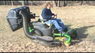 Protero New Residential Blower and Lawn Bagger/Vacuum on John Deere Z-trak Series