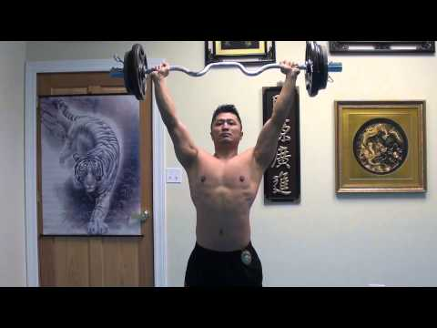 Military Press - A basic requirement for all Zen Martial Artists - 110 lbs @ 145 lbs